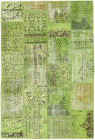 Patchwork Teppich  161X238 Echter Moderner Handgeknüpfter Hell Grün/Olivgrün (Wolle, Türkei)