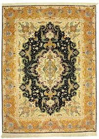 Täbriz 70Raj Silke Varp Teppich  152X205 Echter Orientalischer Handgeknüpfter (Wolle/Seide, Persien/Iran)