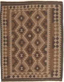Kelim Maimane Teppich  148X187 Echter Orientalischer Handgewebter Braun/Dunkelbraun (Wolle, Afghanistan)