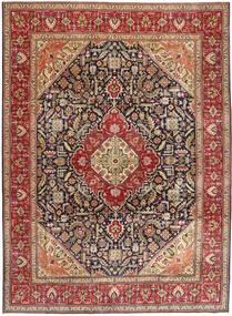 Täbriz Patina Teppich  292X400 Echter Orientalischer Handgeknüpfter Dunkelbraun/Dunkelrot Großer (Wolle, Persien/Iran)