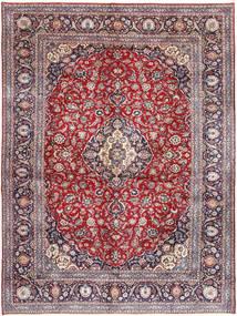 Keshan Teppich  295X400 Echter Orientalischer Handgeknüpfter Helllila/Hellgrau Großer (Wolle, Persien/Iran)