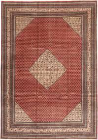 Sarough Patina Teppich 255X360 Echter Orientalischer Handgeknüpfter Dunkelrot/Dunkelbraun Großer (Wolle, Persien/Iran)