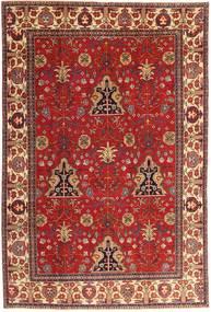 Täbriz Patina Teppich  210X322 Echter Orientalischer Handgeknüpfter Dunkelrot/Rost/Rot (Wolle, Persien/Iran)