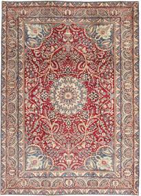 Kerman Patina Teppich  248X344 Echter Orientalischer Handgeknüpfter Beige/Hellgrau (Wolle, Persien/Iran)