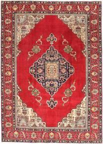 Täbriz Patina Teppich  236X324 Echter Orientalischer Handgeknüpfter Rot/Dunkelrot (Wolle, Persien/Iran)