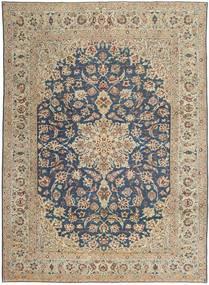 Najafabad Patina Teppich  270X373 Echter Orientalischer Handgeknüpfter Hellgrau/Dunkelgrau Großer (Wolle, Persien/Iran)