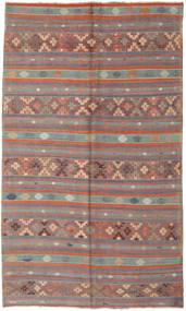 Kelim Türkei Teppich 180X305 Echter Orientalischer Handgewebter Braun/Dunkelbraun (Wolle, Türkei)