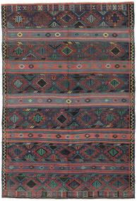 Kelim Türkei Teppich 168X250 Echter Orientalischer Handgewebter Dunkelgrau/Dunkelrot (Wolle, Türkei)