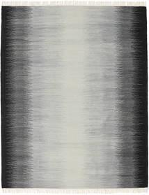 Ikat - Schwarz/Grau Teppich  190X240 Echter Moderner Handgewebter Hellgrau/Türkisblau/Dunkelgrau (Wolle, Indien)
