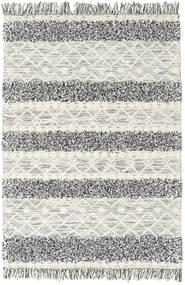 Kelim Berber Ibiza - Schwarz Und Weiß Mix Teppich 140X200 Echter Moderner Handgewebter Hellgrau/Dunkel Beige (Wolle, Indien)