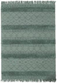 Kelim Berber Ibiza - Minzgrün Teppich  140X200 Echter Moderner Handgewebter Dunkelgrün/Grün (Wolle, Indien)