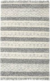 Kelim Berber Ibiza - Schwarz Und Weiß Mix Teppich  200X300 Echter Moderner Handgewebter Hellgrau/Dunkelgrau/Dunkel Beige (Wolle, Indien)