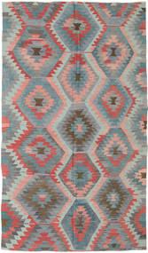 Kelim Türkei Teppich 165X288 Echter Orientalischer Handgewebter Dunkelgrau/Hellgrau (Wolle, Türkei)