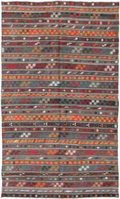 Kelim Türkei Teppich 180X303 Echter Orientalischer Handgewebter Dunkelrot/Dunkelgrau (Wolle, Türkei)