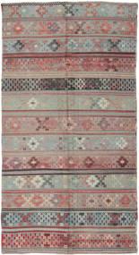 Kelim Türkei Teppich 146X288 Echter Orientalischer Handgewebter Dunkelgrau/Hellgrau (Wolle, Türkei)