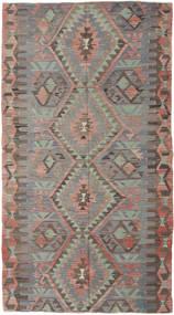 Kelim Türkei Teppich 150X280 Echter Orientalischer Handgewebter Dunkelgrau/Hellgrau (Wolle, Türkei)
