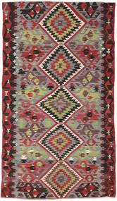 Kelim Türkei Teppich 162X282 Echter Orientalischer Handgewebter Dunkelrot/Dunkelbraun (Wolle, Türkei)