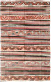 Kelim Türkei Teppich 164X258 Echter Orientalischer Handgewebter Hellgrau/Hellbraun (Wolle, Türkei)