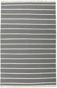 Dorri Stripe - Grau Teppich  200X300 Echter Moderner Handgewebter Dunkelgrau/Dunkelgrün (Wolle, Indien)
