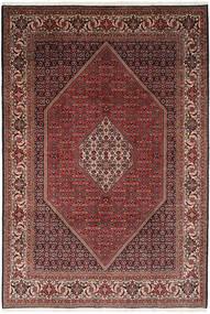 Bidjar Teppich  203X295 Echter Orientalischer Handgeknüpfter Dunkelrot/Braun (Wolle, Persien/Iran)