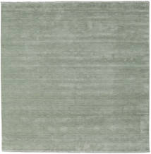 Handloom Fringes - Soft Teal Teppich  250X250 Moderner Quadratisch Hell Grün Großer (Wolle, Indien)