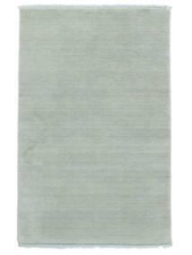 Handloom Fringes - Eisblau Teppich  140X200 Moderner Hellblau (Wolle, Indien)