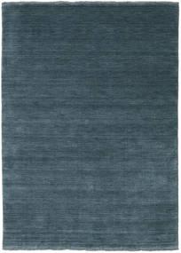 Handloom Fringes - Petrolblau Teppich  140X200 Moderner Blau/Dunkelblau (Wolle, Indien)