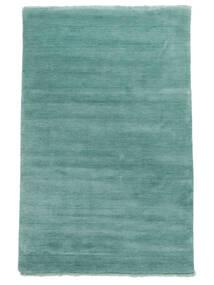 Handloom Fringes - Aqua Teppich  140X200 Moderner Türkisblau (Wolle, Indien)