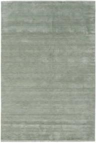 Handloom Fringes - Soft Teal Teppich  300X400 Moderner Hell Grün/Dunkelgrau Großer (Wolle, Indien)