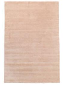 Handloom Fringes - Sanftes Rosé Teppich  200X300 Moderner Hellrosa/Beige (Wolle, Indien)