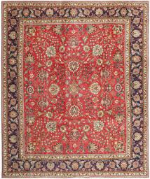 Täbriz Patina Teppich  288X342 Echter Orientalischer Handgeknüpfter Dunkelrot/Rost/Rot Großer (Wolle, Persien/Iran)