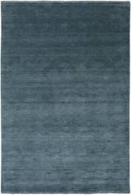 Handloom Fringes - Petrolblau Teppich  200X300 Moderner Blau/Dunkelblau (Wolle, Indien)