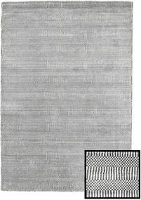 Bambus Grass - Black_ Grau Teppich  120X180 Moderner Hellgrau/Dunkelgrau (Wolle/Bambus-Seide, Türkei)