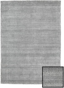 Bambus Grass - Black_ Grau Teppich  140X200 Moderner Hellgrau/Dunkelgrau (Wolle/Bambus-Seide, Türkei)