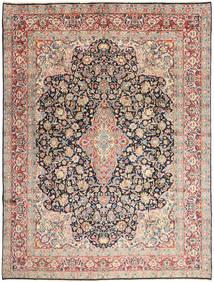 Kerman Teppich  277X368 Echter Orientalischer Handgeknüpfter Beige/Dunkelgrau Großer (Wolle, Persien/Iran)