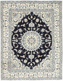 Nain Teppich  193X250 Echter Orientalischer Handgeknüpfter Hellgrau/Beige (Wolle, Persien/Iran)