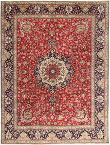 Täbriz Teppich  292X393 Echter Orientalischer Handgeknüpfter Dunkelrot/Rost/Rot Großer (Wolle, Persien/Iran)