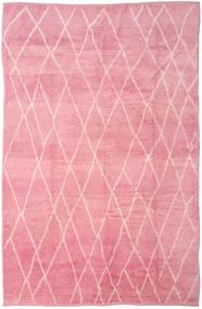 Handknotted Berber Shaggy Teppich 273X415 Echter Moderner Handgeknüpfter Hellrosa/Rosa Großer (Wolle, Türkei)