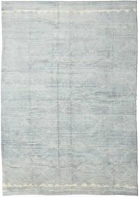 Handknotted Berber Shaggy Teppich 300X423 Echter Moderner Handgeknüpfter Hellgrau/Hellblau/Weiß/Creme Großer (Wolle, Türkei)