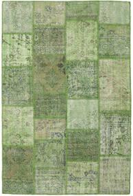 Patchwork Teppich  158X236 Echter Moderner Handgeknüpfter Olivgrün/Hell Grün (Wolle, Türkei)
