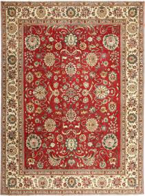Täbriz Patina Teppich  290X390 Echter Orientalischer Handgeknüpfter Braun/Rost/Rot Großer (Wolle, Persien/Iran)