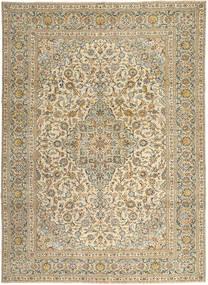 Keshan Patina Teppich 272X365 Echter Orientalischer Handgeknüpfter Hellbraun/Dunkel Beige Großer (Wolle, Persien/Iran)