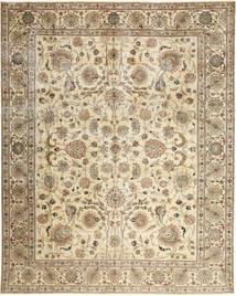 Täbriz Patina Teppich  303X380 Echter Orientalischer Handgeknüpfter Beige/Braun Großer (Wolle, Persien/Iran)