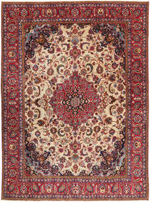 Täbriz Patina Teppich  286X380 Echter Orientalischer Handgeknüpfter Dunkelrot/Dunkelbraun Großer (Wolle, Persien/Iran)