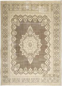 Kerman Patina Teppich  285X388 Echter Orientalischer Handgeknüpfter Hellgrau/Beige Großer (Wolle, Persien/Iran)