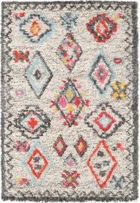 Fatima - Multi Teppich  120X180 Echter Moderner Handgewebter Hellgrau/Beige (Wolle, Indien)