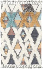Xavier - Multi Teppich  120X180 Echter Moderner Handgewebter Hellgrau/Beige (Wolle, Indien)