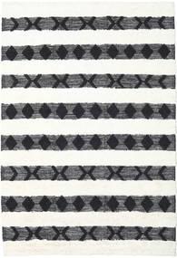 Shaula - Schwarz/Weiß Teppich  200X300 Echter Moderner Handgewebter Beige/Weiß/Creme (Wolle, Indien)