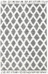Inez - Dunkelbraun/Weiß Teppich  160X230 Echter Moderner Handgewebter Beige/Hellgrau (Wolle, Indien)