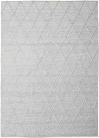 Svea - Silbergrau Teppich  300X400 Echter Moderner Handgewebter Hellgrau/Weiß/Creme Großer (Wolle, Indien)